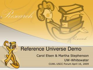 Reference Universe Demo