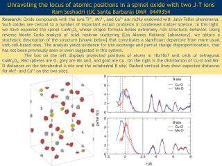 Unraveling the locus of atomic positions in a spinel oxide with two J-T ions