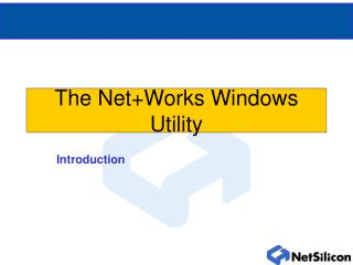 The Net+Works Windows Utility