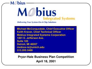 Pryor-Hale Business Plan Competition April 18, 2001
