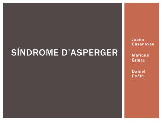 Síndrome  d'Asperger