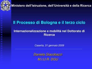 Daniela Giacobazzi M.I.U.R. DGU