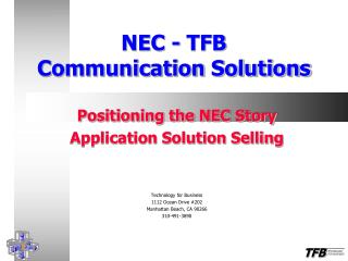NEC - TFB Communication Solutions
