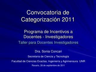 Convocatoria de Categorización 2011