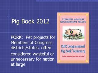 Pig Book  2012