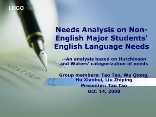Needs Analysis on Non-English Major Students' English Language Needs