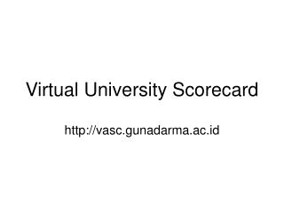 Virtual University Scorecard