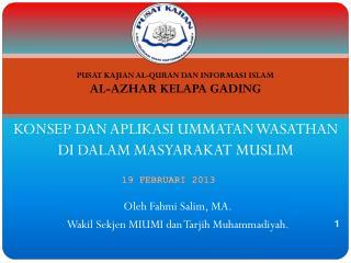 Oleh Fahmi Salim, MA. Wakil Sekjen MIUMI dan Tarjih Muhammadiyah.