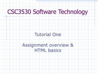 CSC3530 Software Technology