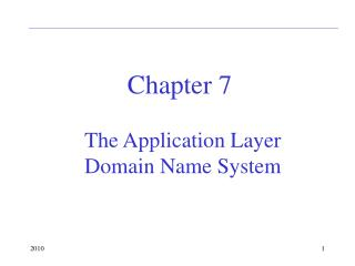The Application Layer Domain Name System