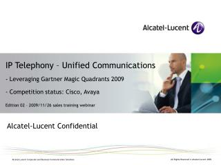 Alcatel-Lucent Confidential