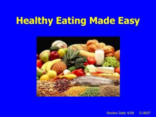 Healthy Eating Made Easy