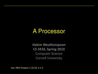 A Processor