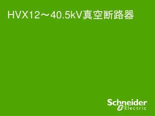 HVX12 ~ 40.5kV 真空断路器