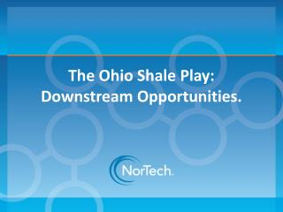 The Ohio Shale Play: Downstream Opportunities.