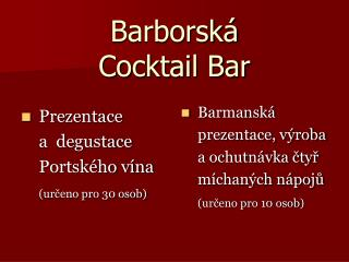 Barborská  Cocktail Bar