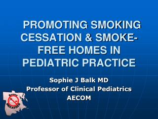 PROMOTING SMOKING CESSATION & SMOKE-FREE HOMES IN PEDIATRIC PRACTICE