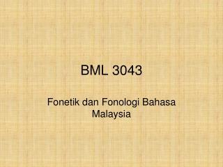 BML 3043