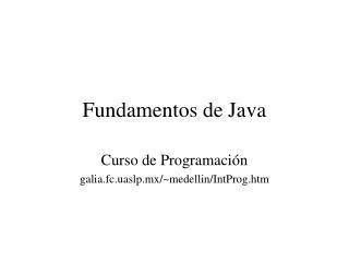 Fundamentos de Java