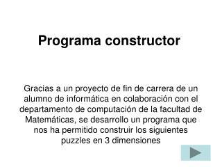 Programa constructor
