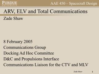 ARV, ELV and Total Communications