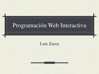 Programación Web Interactiva