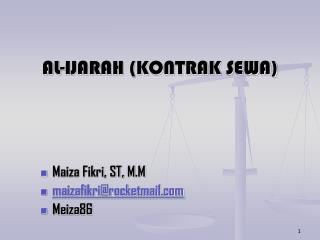 AL-IJARAH (KONTRAK SEWA)
