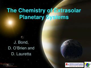 The Chemistry of Extrasolar Planetary Systems