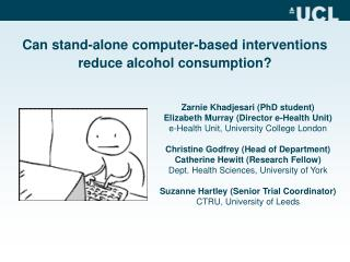 Can stand-alone computer-based interventions  reduce alcohol consumption?