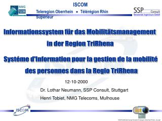 Informationssystem für das Mobilitätsmanagement  in der Region TriRhena