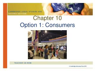 Chapter 10 Option 1: Consumers