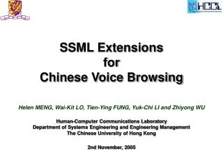 SSML Extensions  for  Chinese Voice Browsing