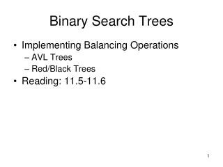 Binary Search Trees and Heaps