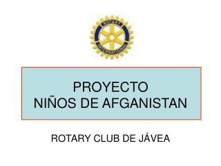 PROYECTO  NIÑOS DE AFGANISTAN