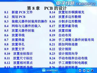 第  8  章  PCB  的 设计