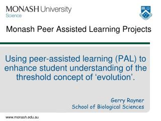 Monash Peer Assisted Learning Projects