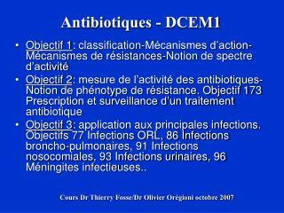 Antibiotiques - DCEM1