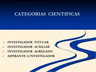 CATEGORIAS  CIENTIFICAS