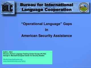 """Operational Language"" Gaps  in  American Security Assistance"