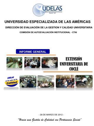 DIRECCIÓN DE EVALUACIÓN DE LA GESTION Y CALIDAD UNIVERSITARIA