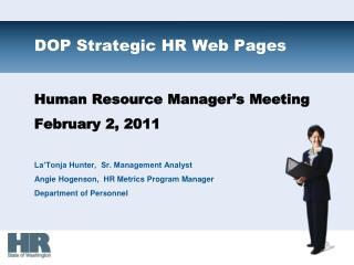 DOP Strategic HR Web Pages
