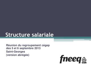 S tructure salariale