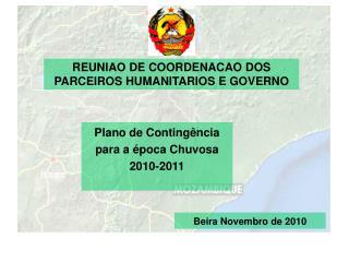 REUNIAO DE COORDENACAO DOS PARCEIROS HUMANITARIOS E GOVERNO