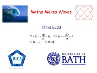 Maths Makes Waves Chris Budd