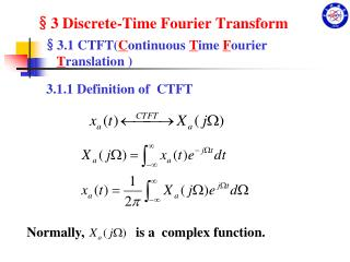 §3 Discrete-Time Fourier Transform