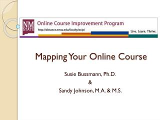 Mapping Your Online Course