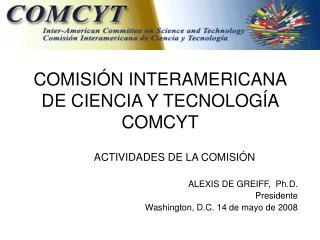 COMISIÓN INTERAMERICANA DE CIENCIA Y TECNOLOGÍA  COMCYT