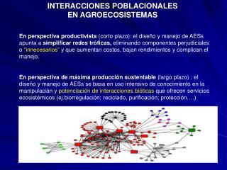 INTERACCIONES POBLACIONALES EN AGROECOSISTEMAS