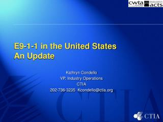 E9-1-1 in the United States An Update