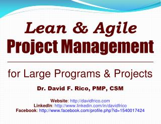Lean & Agile Project Management